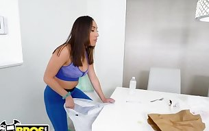 BANGBROS - 18 Year Old Latin Maid Kira Perez Sucks & Fucks For Cash Money