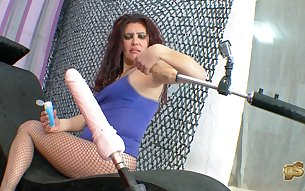 Fuck machines for a hot spanish milf